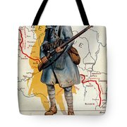 The French Infantry In The Battle Tote Bag by H Delaspre