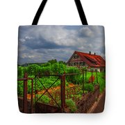 The Garden Gate Tote Bag by Debra and Dave Vanderlaan