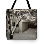 The Garden Sleeps Tote Bag by Michelle Calkins