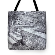 The Garden Wall Tote Bag by Janet Felts