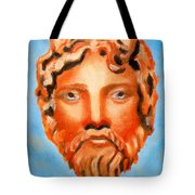 The God Jupiter Or Zeus.  Tote Bag by Augusta Stylianou