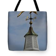 The Golden Dolphin Weathervane Tote Bag by Juergen Roth