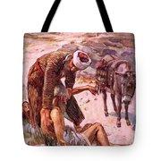 The Good Samaritan Tote Bag by Harold Copping