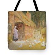 The Goose Girl Tote Bag by Arthur Claude Strachan