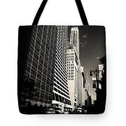 The Grace Building And The Chrysler Building - New York City Tote Bag by Vivienne Gucwa