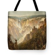 The Grand Canyon Of The Yellowstone Tote Bag by Thomas Hill
