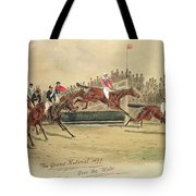 The Grand National Over The Water Tote Bag by William Verner Longe