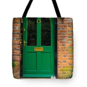 The Green Door Tote Bag by Mark Llewellyn