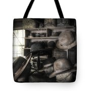 The Hatters Shop - 19th Century Hatter Tote Bag by Gary Heller