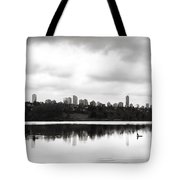 The Heron And The City Tote Bag by Lisa Knechtel