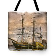 The Hms Bounty Tote Bag by Debra and Dave Vanderlaan