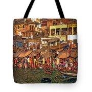 The Holy Ganges Tote Bag by Steve Harrington