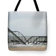 The Jetstar Rollercoaster In Seaside Heights Nj Tote Bag by Living Color Photography Lorraine Lynch