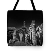 The Karnak Temple Bw Tote Bag by Erik Brede