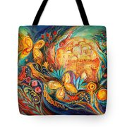 The Key Of Jerusalem Tote Bag by Elena Kotliarker