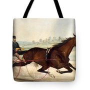 The King Of The Turf Tote Bag by Currier And Ives