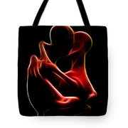 the Kiss Tote Bag by Taylan Apukovska
