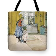 The Kitchen From A Home Series Tote Bag by Carl Larsson