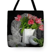 The Lace Veil  Tote Bag by Diana Angstadt
