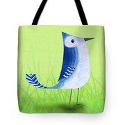 The Letter Blue J Tote Bag by Valerie   Drake Lesiak