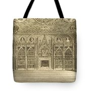 The Library, Engraved By Godfrey Tote Bag by English School