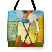 The Little Puppy Tote Bag by Habib Ayat