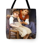 The Little Sulk Tote Bag by William Bouguereau