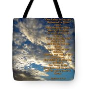 The Lords Prayer Tote Bag by Glenn McCarthy Art and Photography