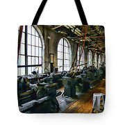 The Machine Shop Tote Bag by Paul Ward
