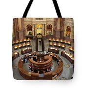 The Main Reading Room Of The Library Of Congress Tote Bag by Allen Beatty