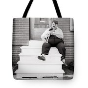 The man with the little dog circa 1938  Tote Bag by Aged Pixel