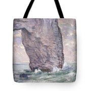 The Manneporte Seen From Below Tote Bag by Claude Monet