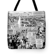 The March For Civil Rights Tote Bag by Benjamin Yeager