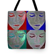 the mask Tote Bag by Stylianos Kleanthous