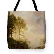 The Merced River In Yosemite Tote Bag by Albert Bierstadt