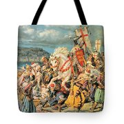 The Mighty King Of Chivalry Richard The Lionheart Tote Bag by Fortunino Matania