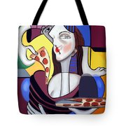 The Mona Pizza Tote Bag by Anthony Falbo
