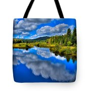 The Moose River From The Green Bridge Tote Bag by David Patterson