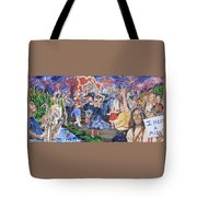 The Music Never Stopped Tote Bag by Bryan Bustard