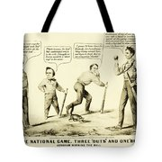 The National Game - Abraham Lincoln Plays Baseball Tote Bag by Digital Reproductions