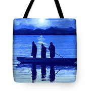 The Night Fishermen Tote Bag by SophiaArt Gallery