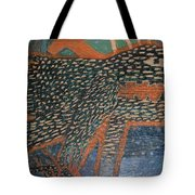 The Non-erring Line Is A Papercut Tote Bag by Nancy Mauerman