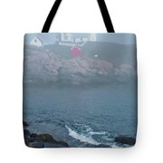 The Nubble Lighthouse At York Maine Tote Bag by Suzanne Gaff