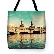 The Oberbaum Bridge In Berlin Germany Tote Bag by Michal Bednarek