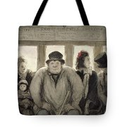 The Omnibus Tote Bag by Honore Daumier