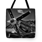 The P-51 Speedball Alice Mustang Tote Bag by David Patterson