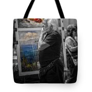 The Painter And His Paintings Tote Bag by Erik Brede
