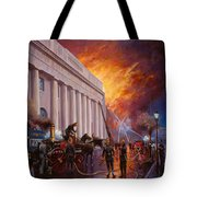The Pantechnicon Fire. 1874. Tote Bag by Mike  Jeffries