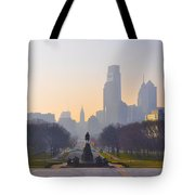 The Parkway In The Morning Tote Bag by Bill Cannon