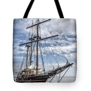 The Peacemaker Tall Ship Tote Bag by Dale Kincaid